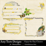 Enjoy The Day Cluster Pack-$2.49 (Amy Teets)