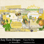 Enjoy The Day Embellishment Pack-$1.75 (Amy Teets)