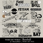 Baseball WordArt-$2.49 (Word Art World)