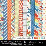 Boardwalk Blues Paper Pack-$3.99 (Karen Lewis)