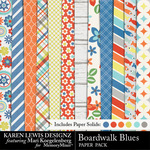 Boardwalk Blues Paper Pack-$3.99 (Karen Lewis)