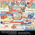 Boardwalk Blues Embellishment Pack-$2.99 (Karen Lewis)