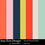 Social Trend Solid Paper Pack-$3.49 (Amy Teets)