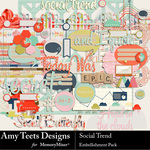 Social Trend Embellishment Pack-$3.49 (Amy Teets)