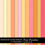 Pure Paradise Solid Paper Pack-$1.40 (Laura Burger)