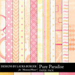 Pure Paradise Pattern Paper Pack-$1.75 (Laura Burger)