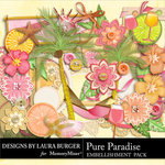Pure Paradise Embellishment Pack-$1.40 (Laura Burger)