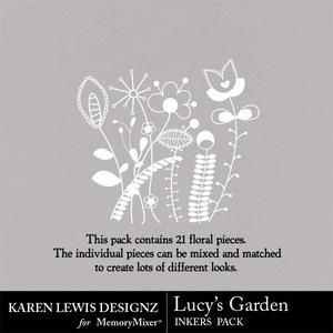 Inkers lucys garden medium