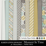 Moment In Time Paper Pack-$3.99 (Karen Lewis)