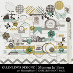 Moment In Time Embellishment Pack-$2.99 (Karen Lewis)