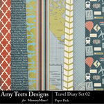 Travel Diary Paper Pack 2-$3.49 (Amy Teets)