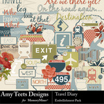 Travel Diary Embellishment Pack-$3.49 (Amy Teets)