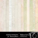 Believe In Love Paper Pack-$2.99 (Indigo Designs)