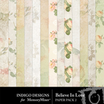 Believe In Love Paper Pack 2-$2.99 (Indigo Designs)