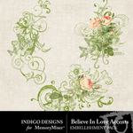 Believe In Love Accents-$1.99 (Indigo Designs)
