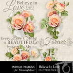 Believe In Love Clusters-$1.99 (Indigo Designs)
