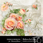 Believe In Love Embellishment Pack-$2.99 (Indigo Designs)