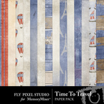 Time To Travel Paper Pack-$3.49 (Fly Pixel Studio)