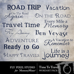 Time To Travel WordArt-$2.49 (Fly Pixel Studio)