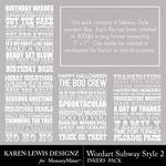 Subway Style Inkers 2-$1.99 (Karen Lewis)