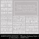 Subway Style Inkers 3-$1.99 (Karen Lewis)