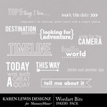 Wordart Bits Inkers-$1.99 (Karen Lewis)