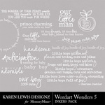 Wordart Wonders 5-$1.99 (Karen Lewis)