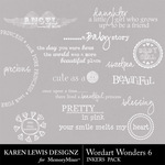 Wordart Wonders 6-$1.99 (Karen Lewis)