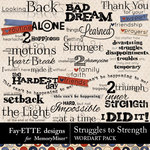 Struggles to Strength WordArt Pack-$2.49 (Fayette Designs)