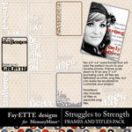 Struggles to Strength Frames and Titles-$2.49 (Fayette Designs)