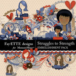 Struggles to Strength Embellishment Pack-$3.99 (Fayette Designs)