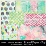 Painted Papers Pop Paper Pack-$3.49 (Sweet Poppy Studio)