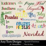 Spanish Christmas WordArt-$2.49 (Amy Teets)