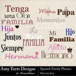 Spanish Family Phrases WordArt-$1.25 (Amy Teets)