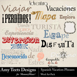 Spanish Vacation Phrases WordArt-$2.49 (Amy Teets)
