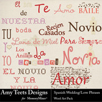 Spanish Wedding Love Phrases WordArt-$2.49 (Amy Teets)