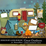 Great Outdoors Embellishment Pack-$3.49 (Laura Burger)