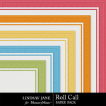 Roll Call Embossed Paper Pack-$1.99 (Lindsay Jane)