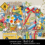 Roll Call Embellishment Pack-$1.75 (Lindsay Jane)