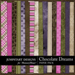 Chocolate Dreams Paper Pack-$3.49 (Jumpstart Designs)