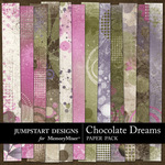 Chocolate Dreams Grunge Paper Pack-$3.49 (Jumpstart Designs)