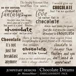 Chocolate Dreams WordArt-$2.40 (Jumpstart Designs)