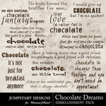 Chocolate Dreams WordArt-$2.49 (Jumpstart Designs)