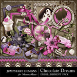 Chocolate Dreams Add On Embellishment Pack-$3.49 (Jumpstart Designs)