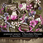 Chocolate Dreams Embellishment Pack-$4.99 (Jumpstart Designs)