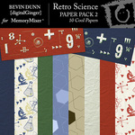 Retro Science Paper Pack 2-$3.99 (Bevin Dunn)