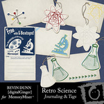 Retro Science Journaling and Tags-$2.49 (Bevin Dunn)