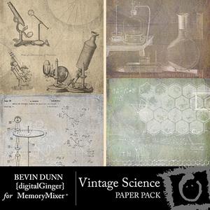 Vintage science paper pack medium