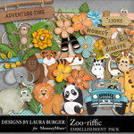Zoo riffic Embellishment Pack-$3.49 (Laura Burger)