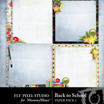 Back To School Paper Pack 2-$3.49 (Fly Pixel Studio)